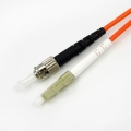 MM ST-LC fiber optic patch cord