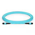 MPO Female 12 Fibers Type A LSZH OM3 50/125 Multimode Trunk Cable